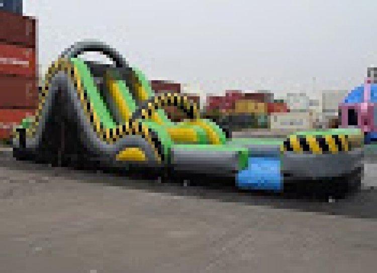 19 Ft Dual Lane Hazard Rush n Slide